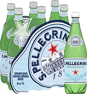 Sanpellegrino Sparkling Mineral Water, 1L, (Pack of 6)