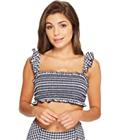 Tory Burch Swimwear - Gingham Costa Ruffle Top