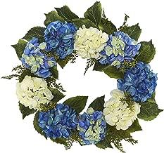 "Nearly Natural Hydrangea Wreath, 24"""