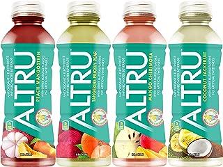 ALTRU, Patent Pending Antioxidant & Electrolyte Infused Water, Variety Pack,12 pack (16 ounce) bottles, 3 each of Peach Mangosteen, Mango Cherimoya, Coconut Jackfruit, Tangerine Prickly Pear