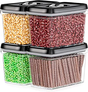 DWELLZA KITCHEN Airtight Food Storage Containers - Pantry Snacks Kitchen Container, Baking Supplies, Sugar & Flour Caniste...
