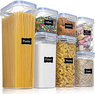 Vtopmart boîtes de Conservation Alimentaire sans BPA de Nourriture en Plastique avec Couvercle,Ensemble De 7+24 Étiquette...