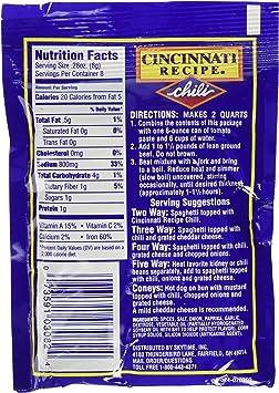 Amazon Com 6 Pack Cincinnati Chili Mix Packets Limited Edition Home Improvement