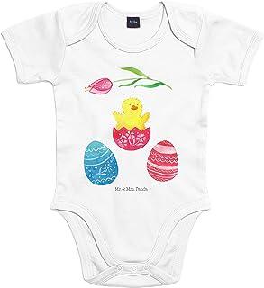 Mr. & Mrs. Panda Strampler, Bodysuit, 3-6 Monate Baby Body Küken geschlüpft - Farbe Transparent