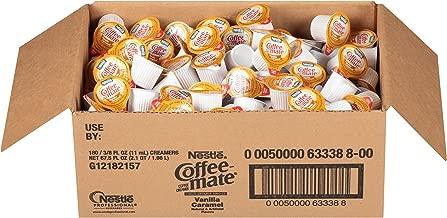 NESTLE COFFEE-MATE Coffee Creamer, Vanilla Caramel, liquid creamer singles, 180 Count (Pack of 1)