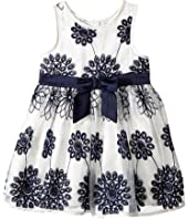 Nanette Lepore Kids - Embroidered Satin Floral Dress (Infant)