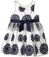 Nanette Lepore Kids - Embroidered Satin Floral Dress (Infant)