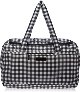 JuJuBe Starlet Large Overnight Duffle Bag, Onyx Collection - Gingham Style