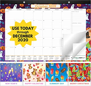 Paperplan Desk Calendar 2019-2020: Large Monthly Pages - 17