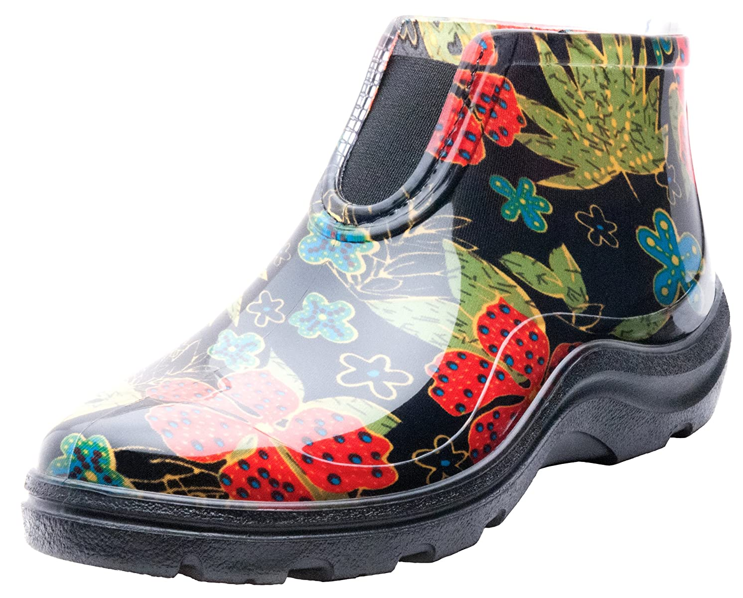 Sloggers Women's Waterproof Rain and Garden Ankle Boots with Comfort Insole, Midsummer Black,Size 7, Style 2841BK07