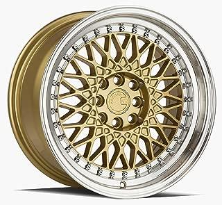 AodHan AH05 Wheel - Gold Machined Lip: 16x8 Wheel Size; 4x100/114.3 Lug Pattern; 73.1mm Hug Bore; 15mm Off Set.
