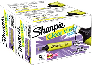 Sharpie Clear View Highlighter, Chisel Tip, 24 Pack