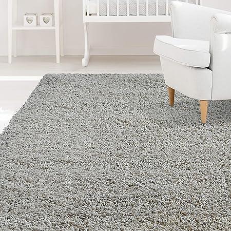 Amazon Com Icustomrug Affordable Shaggy Rug Dixie Cozy Soft Kids Shag Area Rug Solid Color Grey For Children S Play Area Bedroom Or Nursery Carpet 6 X 9 Furniture Decor