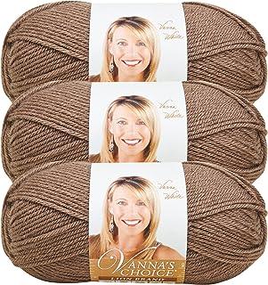 (3 Pack) Lion Brand Yarn 860-125B Vanna's Choice Yarn, Taupe