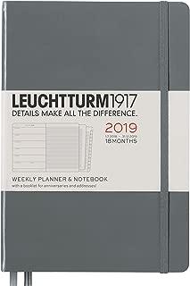 Leuchtturm1917 357844 A5 Medium 18 Months Weekly Planner and Notebook - Anthracite