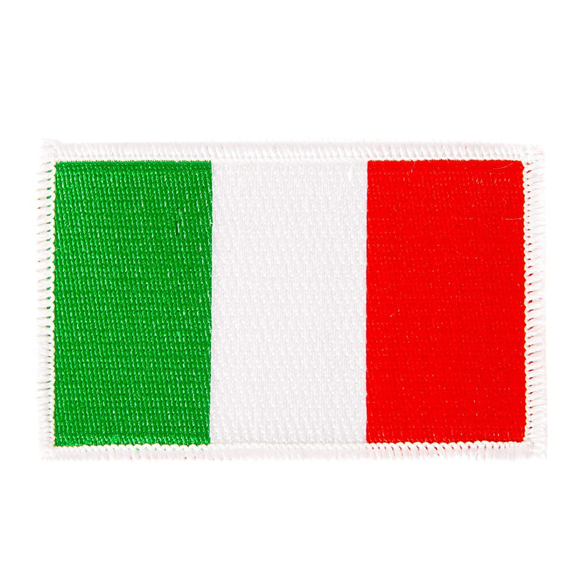 Italy Flag Patch Single 3.5Wx2.25H Iron On Sew Embroidered Tactical Morale Back Pack Hat Bags (Single Patch)