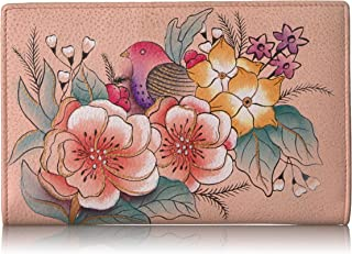 ANNA by Anuschka Hand Painted Leather Two Fold Wallet