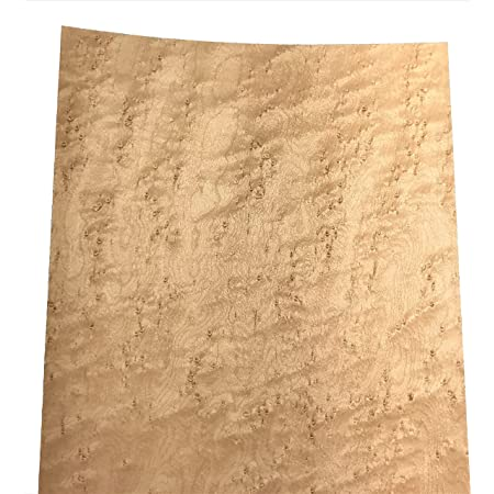 Birdseye Maple Raw Wood Veneer Sheets 10 x 30 inches 1//42nd Thick