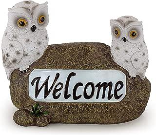 Welcome Owls Solar Garden Light