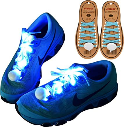 DAWAY Z02 LED Light Up Shoelaces - Nylon Glow Shoes Laces with 3 Flashing Modes,
