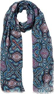 Trussardi Jeans 女式羊绒印花超细莫代尔(U506/Fant。 吉普赛蓝 U506),均码