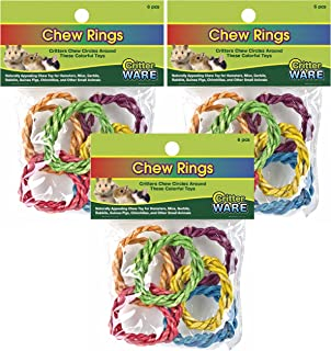 Ware 18 Pack of Chew Rings, 3 6-Piece Packs, Small Animal Chew Toys
