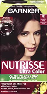 Garnier Nutrisse Haircolor, R1 Dark Intense Auburn Nourishing Color Creme Permanent