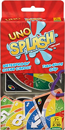 UNO Cartas Splash Juego de Cartas para Jugar con Familia y Amigos para niños de 7 años en adelante, Basic Pack
