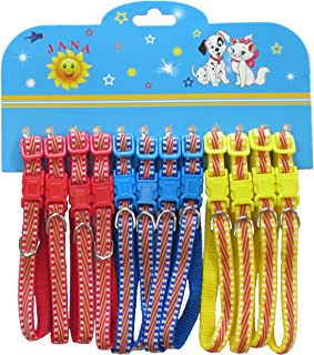 YML Striped Pattern Pet Collar, Assorted Colors