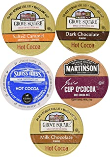 20-count Variety Hot Chocolate Cocoa Sampler for Keurig® K-cup® Brewers - Swiss Miss, Grove Square and Martinson's