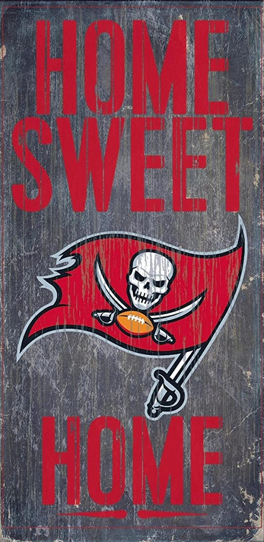 アンタゴニスト注入する罪Fan Creations - Tampa Bay Buccaneers Wood Sign - Home Sweet Home 15cm x 30cm