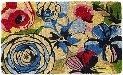 Watercolour 100% Coir Doormat | | Fab Habitat (45x75 cm)