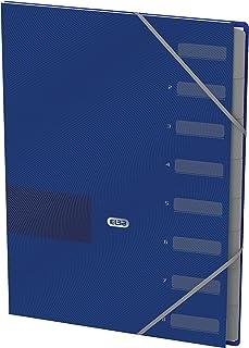Elba 400116164 Touch Office Lot de 12 classeurs en carton avec élastique Bleu Format A4