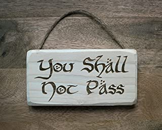 you shall not pass door sign