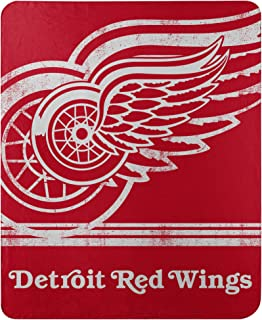Northwest NHL Detroit Red Wings 50x60 Fleece Fade Away DesignBlanket, Team Colors, One Size