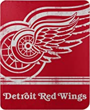 One Size Logo Brands 811-27 NHL Detroit Wings Ultra Soft Throw with Large Logo Blanket 54 x 84 Red