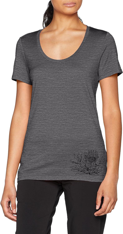 Icebreaker Merino Women's Tech Lite Short Sleeve Scoop Ice Plant Graphic Athletic T Shirts