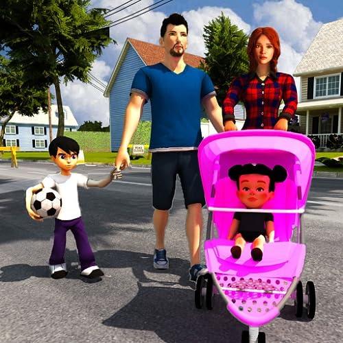 simulador de mãe virtual: creche babá e jogos de família felizes
