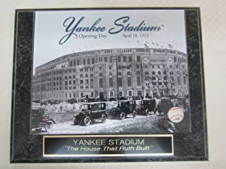 Yankee Stadium 1923 Opening Day Collector Plaque w/8x10 Photo