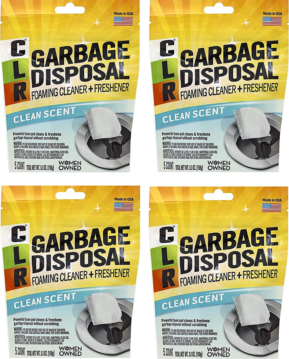 CLR Garbage Disposal Cleaner 5 Max Recommendation 56% OFF Fоur Pods Расk
