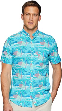 Linear Umbrellas Short Sleeve Slim Murry Shirt