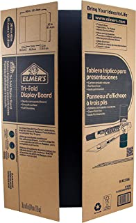 Elmer's Corrugated Tri-Fold Display Boards, 36 x 48 Inches, 1-Ply, Black Inside/Kraft Outside, 1 count (J730305)