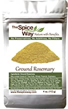 The Spice Way Ground Rosemary - rosemary powder ground pure from rosemary leaves - 4 oz resealable bag