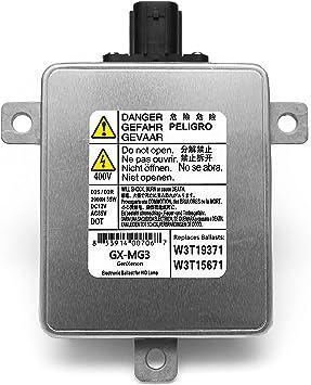 Replacement for Acura Mazda Mitsubishi Xenon HID Ballast Headlight Control Unit Assembly Module Replaces W3T19371, W3T15671 and W3T13072: image