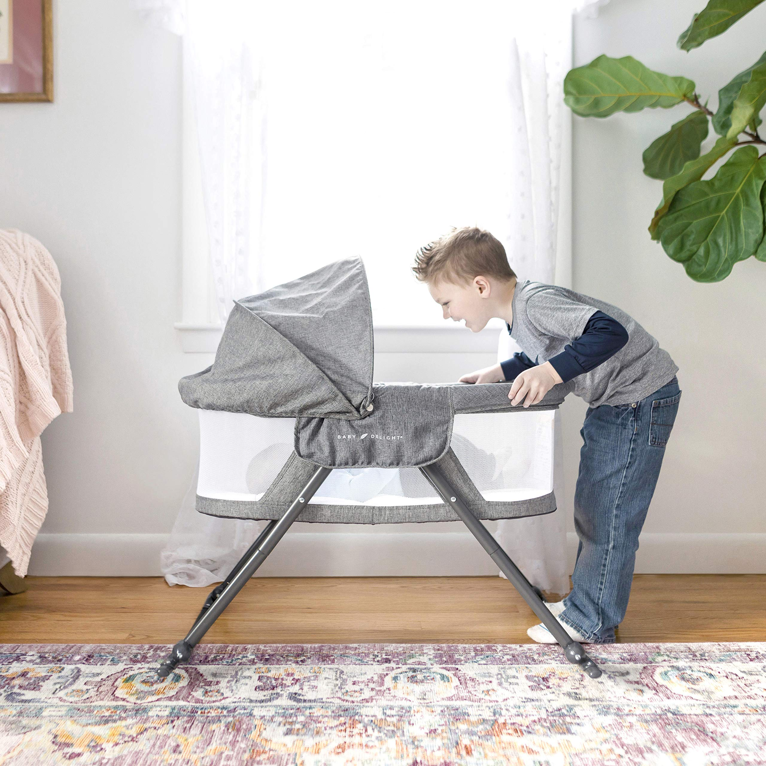 Baby Delight Portable Bassinet Charcoal