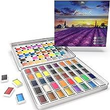 Artify 2019 ideale per pittura acrilica Set di 10 pennelli con custodia per il trasporto acquerelli e guazzi olio