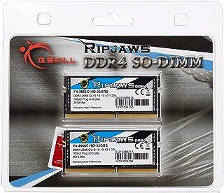 G.Skill SO-DIMM 32 GB DDR4-2666 Kit Memory F4-2666C19D-32GRS, Ripjaws
