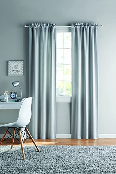 Your Zone Room Darkening Juvi Panel Pairs Size 60x63 Silver
