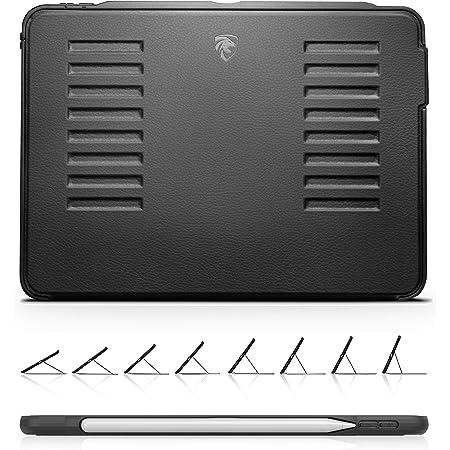 ZUGU iPad Pro 11 ケース 2018 第1世代 The Muse Case 極薄 落下衝撃保護 8段階スタンド機能 オートスリープ スマートカバー (ipadpro11 2018モデル ブラック)