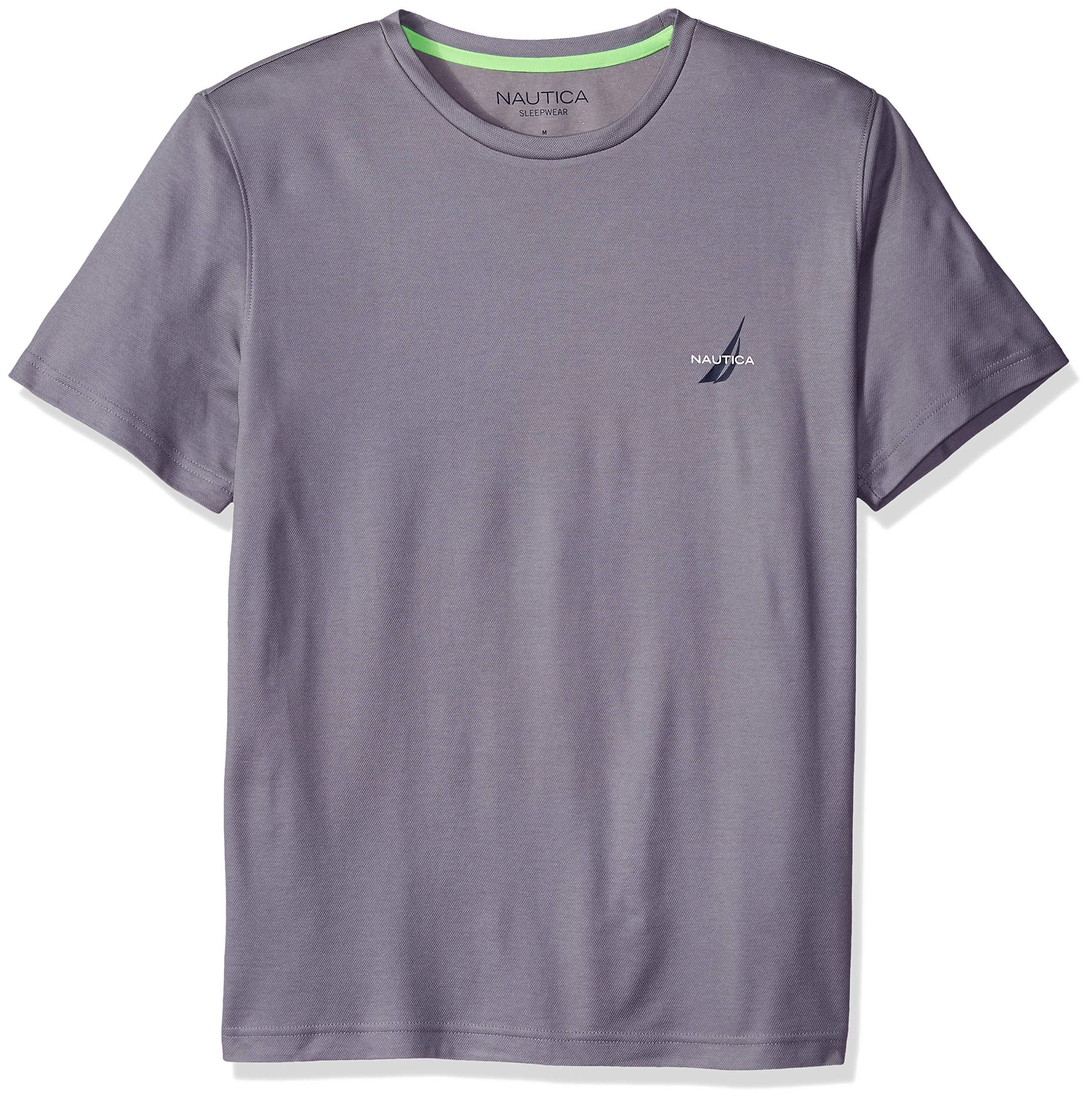 Nautica Menソフトシーブリーズハイパフォーマンスニットパール半袖Tシャツ